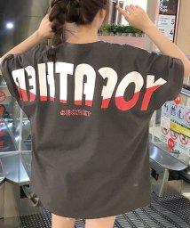 felt maglietta/オーバーサイズバックプリントTシャツ/502409950