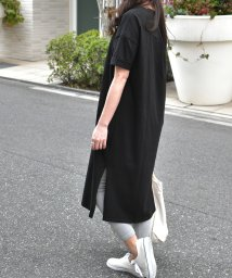 felt maglietta/袖ロールアップバックタックTシャツ/502409952