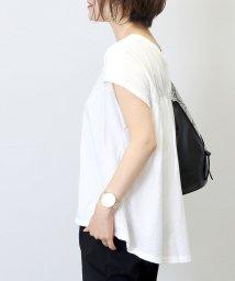FUNNY COMPANY+/【日本製】強撚後ろギャザー綿フレンチプルオーバー/502409990