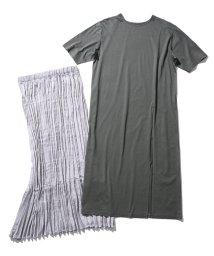 ROPE' mademoiselle/【19AW】プリーツスカートレイヤードTシャツワンピース/502411117