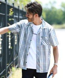 JIGGYS SHOP/チェックシャツ×ロゴTシャツアンサンブル / 半袖シャツ メンズ カジュアルシャツ チェック シャツ Tシャツ ティーシャツ 半袖 クルーネック/502414295