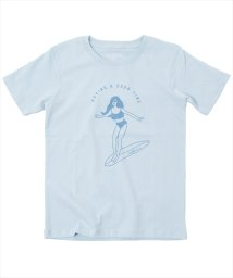 GLAZOS/サーフガール半袖Tシャツ/502414332