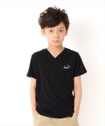 GLAZOS/バックロゴVネック半袖Tシャツ/502414337