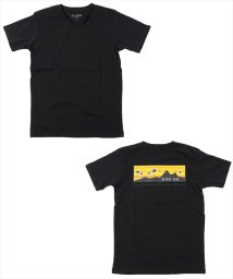GLAZOS/バッグボックスプリントVネック半袖Tシャツ/502414339