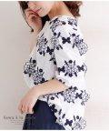 Sawa a la mode/花の刺繍モチーフシャツトップス/502414712