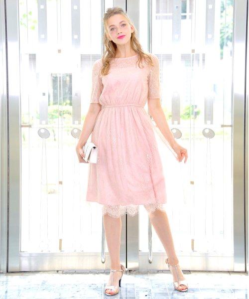 Dear Princess(ディアプリンセス)/【WEB限定】総レース ワンピース/3099225