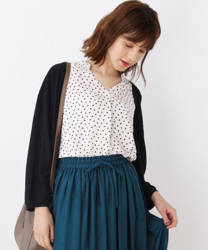 【UV/洗える】スキッパーシャツ+カーディガンセット
