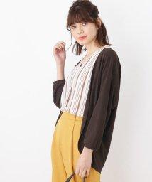 grove/◆【UV/洗える】スキッパーシャツ+カーディガンセット/502418212
