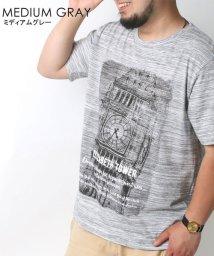 MARUKAWA/大きいサイズ 杢 フォトプリント 半袖Tシャツ/502387582