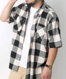 MARUKAWA/【SMITH'S AMERICAN】 綿麻ヘリンボン チェックシャツ/502387587