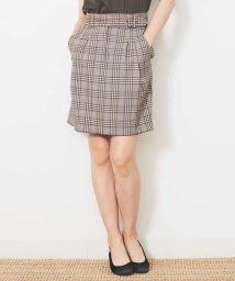 Tara Jarmon/グレンチェックタイトスカート/502420320