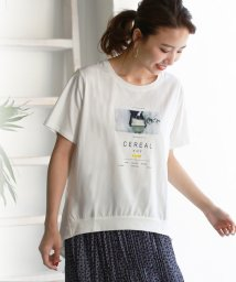 REAL CUBE/バックデザイン転写プリントTシャツ/502420542