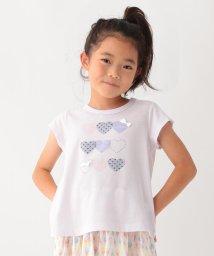 3can4on(Kids)/【接触冷感】【90cm~140cm】ランダムハートTシャツ/502420695