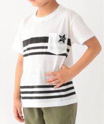 3can4on(Kids)/【90cm~160cm】【接触冷感】ボーダープリントポケット付きTシャツ/502420769