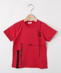 3can4on(Kids)/【150cmまで】車&ロゴプリントTシャツ/502420895