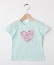3can4on(Kids)/【コットン100%】【110cm~150cm】ハートプリントTシャツ/502420897