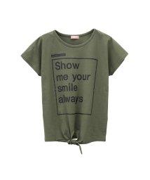 MAC HOUSE(kid's)/T-GRAPHICS ガールズ 前縛り Tシャツ MH/TG747G/502421101