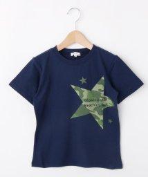 3can4on(Kids)/【コットン100%】【100cm~160cm】迷彩星プリントTシャツ/502422594
