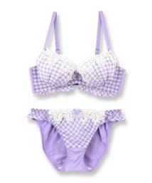 fran de lingerie/Ghingham Chiffon ギンガムシフォン ブラ&ショーツセット B65-G75カップ/501589907