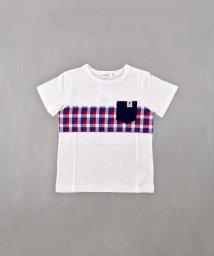 SLAP SLIP/天竺チェック切り替えTシャツ/502326998