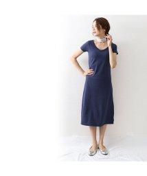 OWNCODE/カップ付きTシャツワンピース ネイビー/502402221