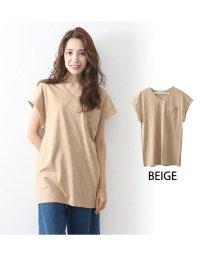 OWNCODE/コットンVネックTシャツ オフホワイト M/502402235