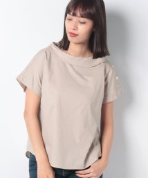 MELROSE Claire/コットンピケストレッチ左肩シェル釦使いブラウス/502405034