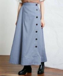 framesRayCassin/リネン風サイドボタンロングスカート/502423324