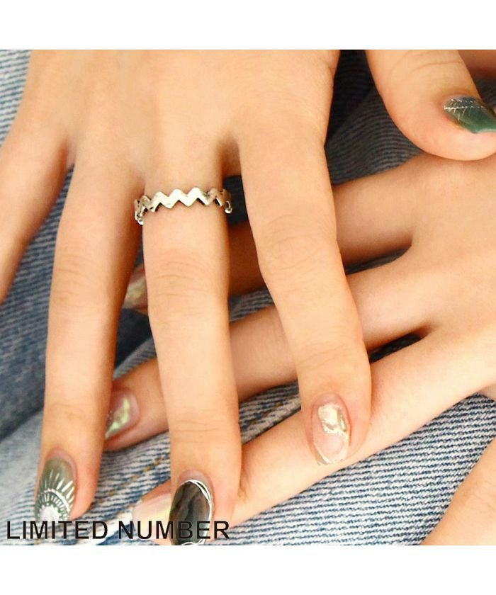 【LIMITED NUMBER】リング ニッケルフリー ジグザグ 13号 指輪[お世話や][osewaya]