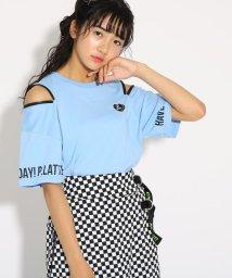PINK-latte/肩ZIP半袖 Tシャツ/502424837