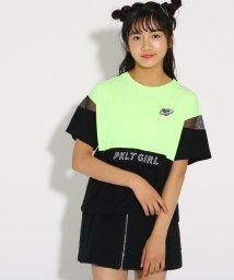 PINK-latte/配色フラップ付 Tシャツ/502424842