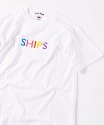 SHIPS MEN/SC:【一部WEB限定カラー】SHIPSロゴ エンブロイダリー Tシャツ/502266683