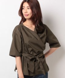 FINE OUTLET/【Green Parks/グリーンパークス】・共ベルト付きカシュクールブラウス/502391213
