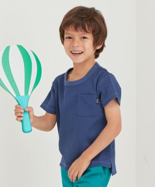 green label relaxing (Kids)(グリーンレーベルリラクシング(キッズ))/◆【キッズ】〔吸水速乾〕ドライワッフルポケットTシャツ/38171991581