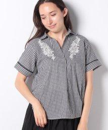 axes femme/刺繍入りシャツ/502409965