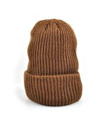 cream dot/秋冬コーデを完成させる、シンプルなカラーニット帽/502425908