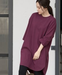 ViS/【WEB限定】スリット入りビッグTシャツ/502426300