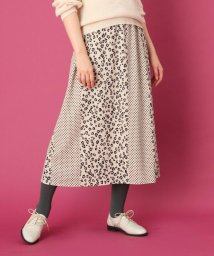 Couture Brooch/【手洗い可】レオパードドットプリント ロングスカート/502426607