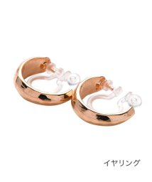 cream dot/丸みシェイプが女っぽいミニフープイヤリング/ピアス/502427733