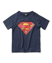 devirock/SUPERMAN ロゴプリント ラッシュガード 水着/502428158