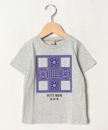 petit main/バンダナボックスプリントTシャツ/502413550