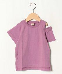petit main/ショルダースリットTシャツ/502413557