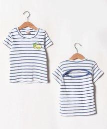 petit main/背中開きボーダーTシャツ/502413555