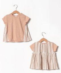 petit main/後ろドッキングTシャツ/502413556