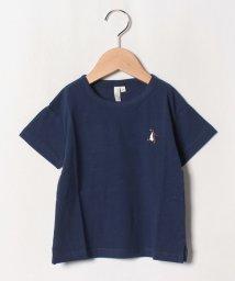 LAGOM/ペンギン刺繍ドロップTシャツ/502413622