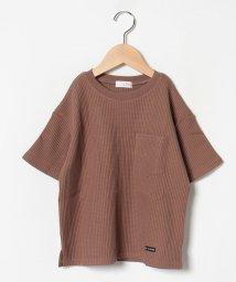 b-ROOM/ワッフルビックシルエットTシャツ/502423618
