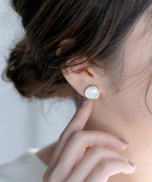 Phoebe/キャンディーフレーミングイヤリング ホワイト/502268091