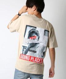 LAZAR/ビッグシルエットバックエンボスフォトTシャツ/502402510