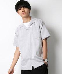 LAZAR/綿/レーヨン リラックスオープンカラーシャツ/502402513