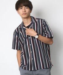 LAZAR/ポリストライプ リラックスオープンカラーシャツ/502402514